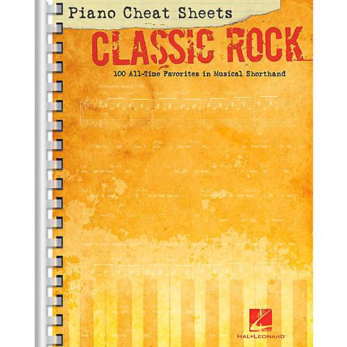 Hal Leonard Piano Cheat Sheets - Classic Rock