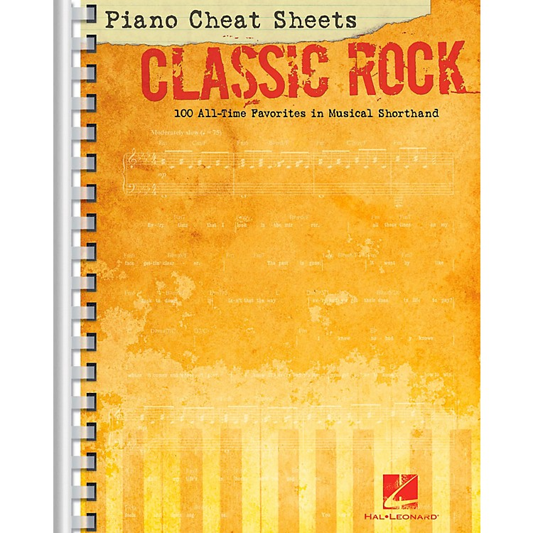 Hal Leonard Piano Cheat Sheets - Classic Rock