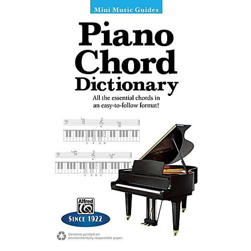 Alfred Piano Chord Dictionary Mini Music Guides Book : Musicianu0026#39;s Friend