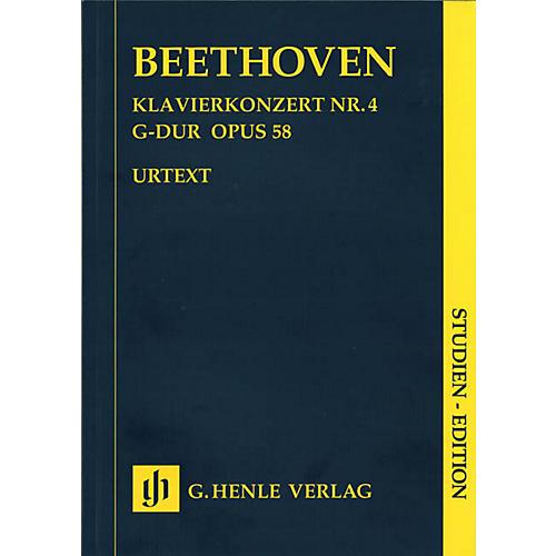 G. Henle Verlag Piano Concerto G Major Op. 58, No. 4 (Study Score 2 Pianos, 4 Hands) Henle Study Scores Series Softcover