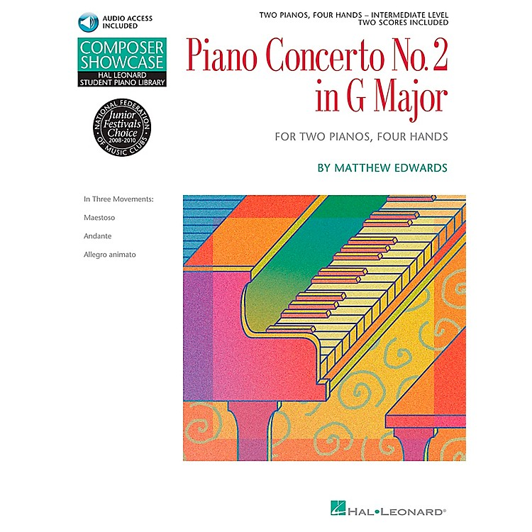 Hal LeonardPiano Concerto No. 2 In G Major 2 Pianos 4 Hands Book/CD Composer Showcase Hal Leonard Student Piano Library by Matt Edwards