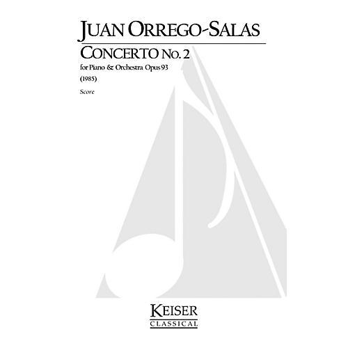 Lauren Keiser Music Publishing Piano Concerto No. 2, Op. 93 LKM Music Series Composed by Juan Orrego-Salas-thumbnail