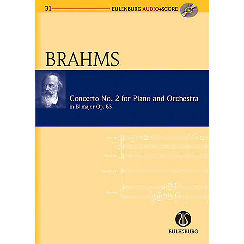Eulenburg Piano Concerto No. 2 in B-flat Major Op. 83 Eulenberg Audio plus Score Series Composed by Johannes Brahms-thumbnail