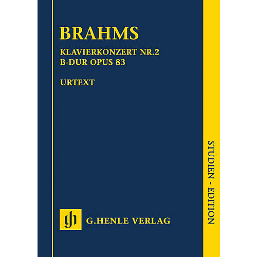 G. Henle Verlag Piano Concerto No. 2 in B-flat Major Op. 83 Henle Study Scores Composed by Brahms Edited by Johannes Behr-thumbnail