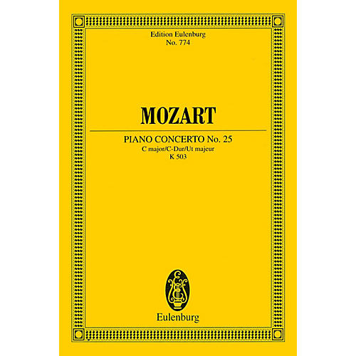 Eulenburg Piano Concerto No. 25 in C Major, K. 503 Schott by Mozart Arranged by Friedrich Blume