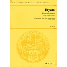Schott Piano Concerto (The Solway Canal) Study Score Series Softcover Composed by Gavin Bryars