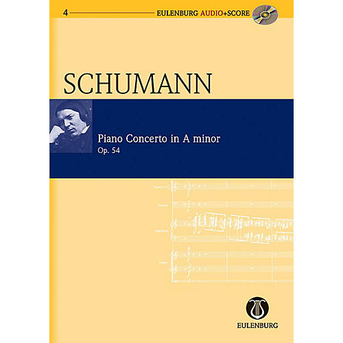 Eulenburg Piano Concerto in A Minor Op. 54 Eulenberg Audio plus Score Series Composed by Robert Schumann-thumbnail