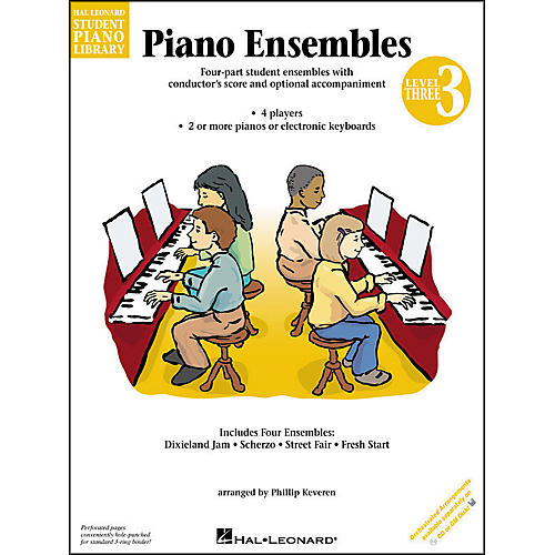 Hal Leonard Piano Ensembles Book 3 Hal Leonard Student Piano Library by Phillip Keveren-thumbnail