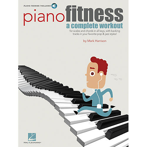 Hal Leonard Piano Fitness (A Complete Workout) Keyboard Instruction Series Softcover Audio Online by Mark Harrison-thumbnail