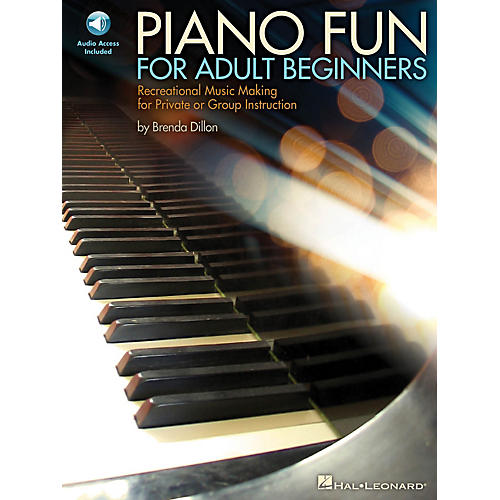 Hal Leonard Piano Fun for Adult Beginners Educational Piano Library Series Softcover Audio Online by Brenda Dillon
