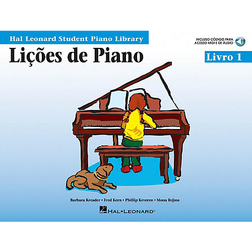 Hal Leonard Piano Lessons, Book 1 - Portuguese Edition Educational Piano Library Series Softcover Audio Online-thumbnail