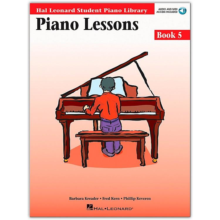 Hal LeonardPiano Lessons Book 5 Book/CD Package Hal Leonard Student Piano Library