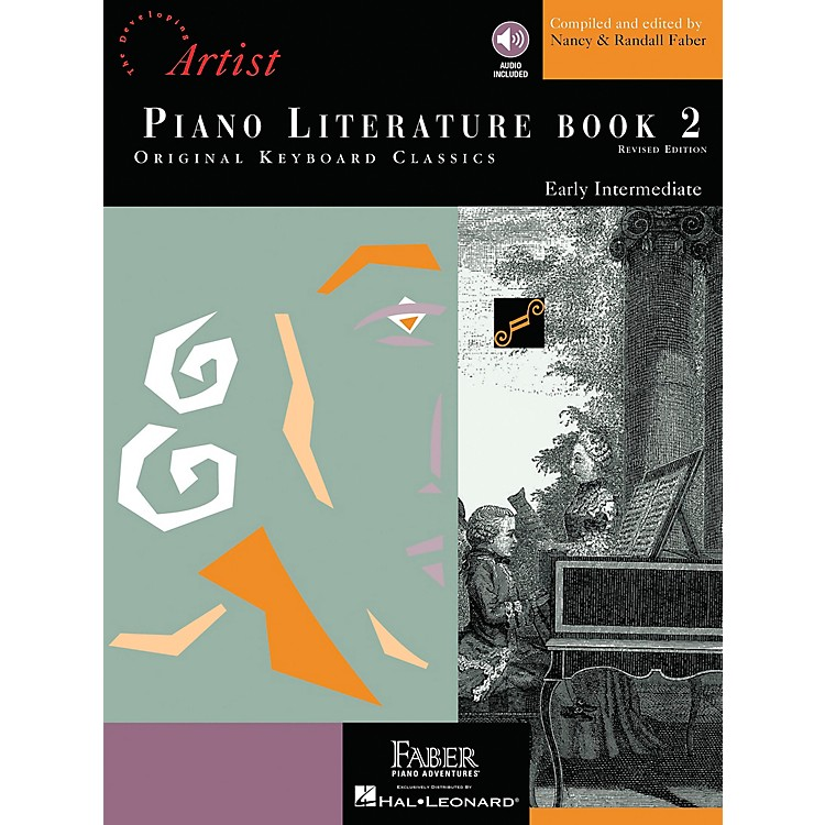 Faber MusicPiano Literature Book 2 - Developing Artist Original Keyboard Classics Book/CD - Faber Piano