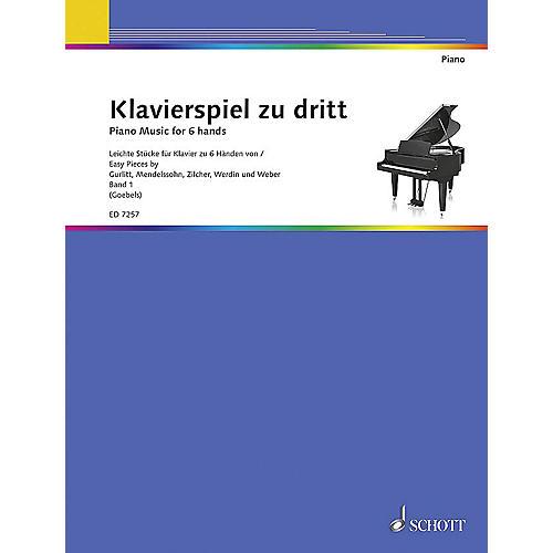 Schott Piano Music for 6 Hands - Volume 1 (Klavierspiel zu dritt - Band 1) Schott Series-thumbnail