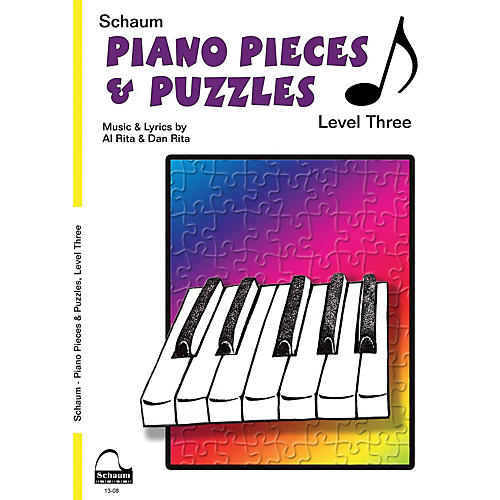 SCHAUM Piano Pieces & Puzzles (Level 3 Early Inter Level) Educational Piano Book by Al Rita-thumbnail