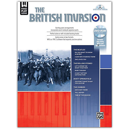 Alfred Piano Play-Along: The British Invasion, Piano/Vocal Songbook & DVD-ROM-thumbnail