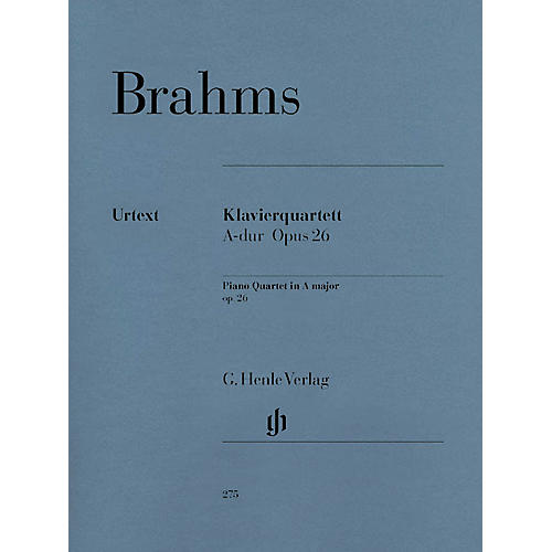 G. Henle Verlag Piano Quartet A Major Op. 26 Henle Music Folios Series Softcover Composed by Johannes Brahms-thumbnail