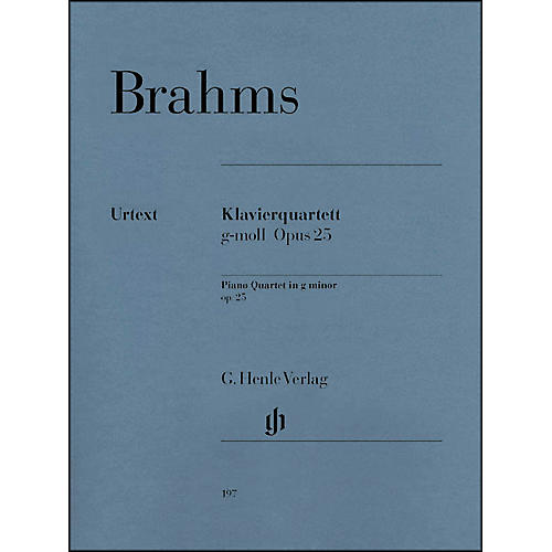 G. Henle Verlag Piano Quartet G minor Op. 25 By Brahms-thumbnail