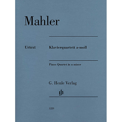 G. Henle Verlag Piano Quartet in A minor Henle Music Folios Softcover Composed by Gustav Mahler Edited by Christoph Flamm