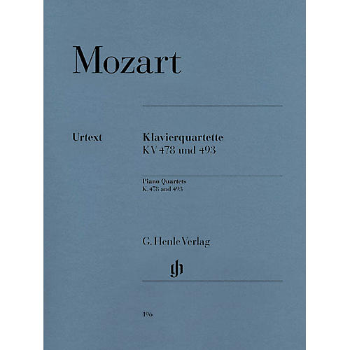 G. Henle Verlag Piano Quartets Henle Music Folios Series Softcover Composed by Wolfgang Amadeus Mozart-thumbnail