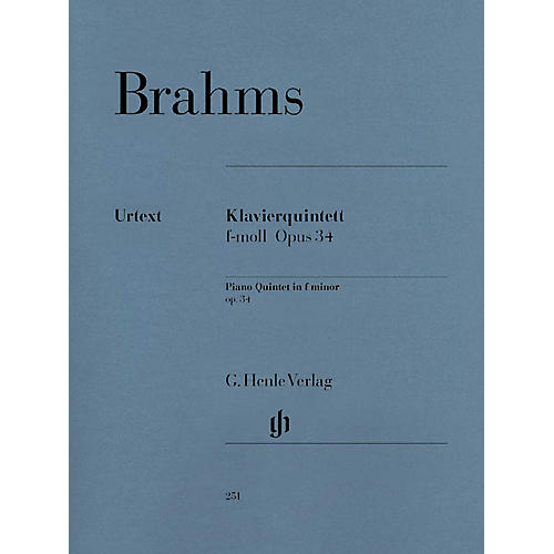 G. Henle Verlag Piano Quintet F minor Op. 34 Henle Music Folios Series Softcover Composed by Johannes Brahms-thumbnail