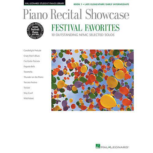 Hal Leonard Piano Recital Showcase - Festival Favorites, Book 1 Piano Library Series Book ( Late Elem to Early Inter)