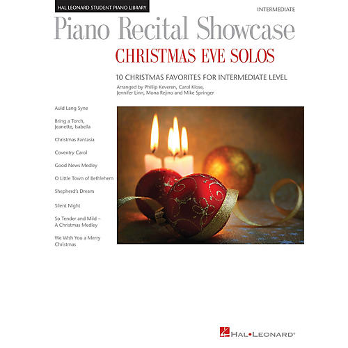 Hal Leonard Piano Recital Showcase: Christmas Eve Solos Piano Library Series Book by Various (Level Inter)-thumbnail