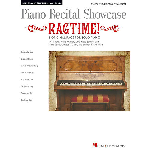 Hal Leonard Piano Recital Showcase: Ragtime! Piano Library Series Book by Various (Level Early Inter)-thumbnail