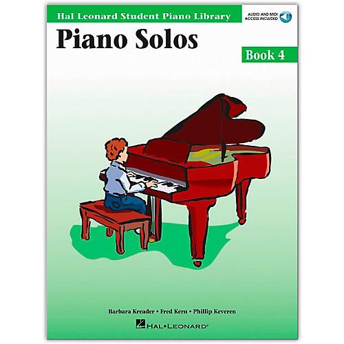 Hal Leonard Piano Solos Book 4 Book/Online Media Hal Leonard Student Piano Library-thumbnail