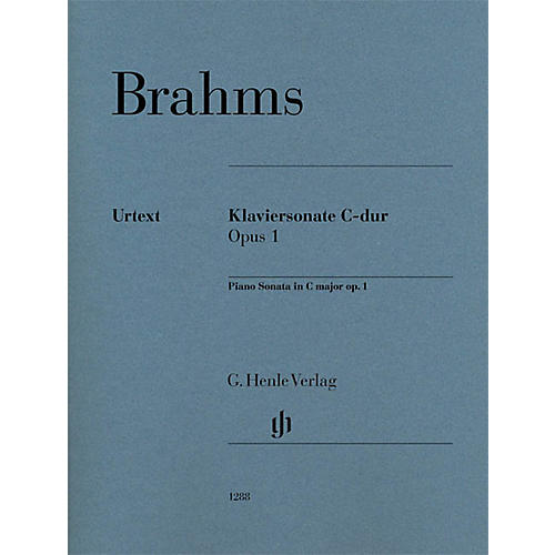 G. Henle Verlag Piano Sonata C Major Op. 1 Henle Music Folios Series Softcover Composed by Johannes Brahms