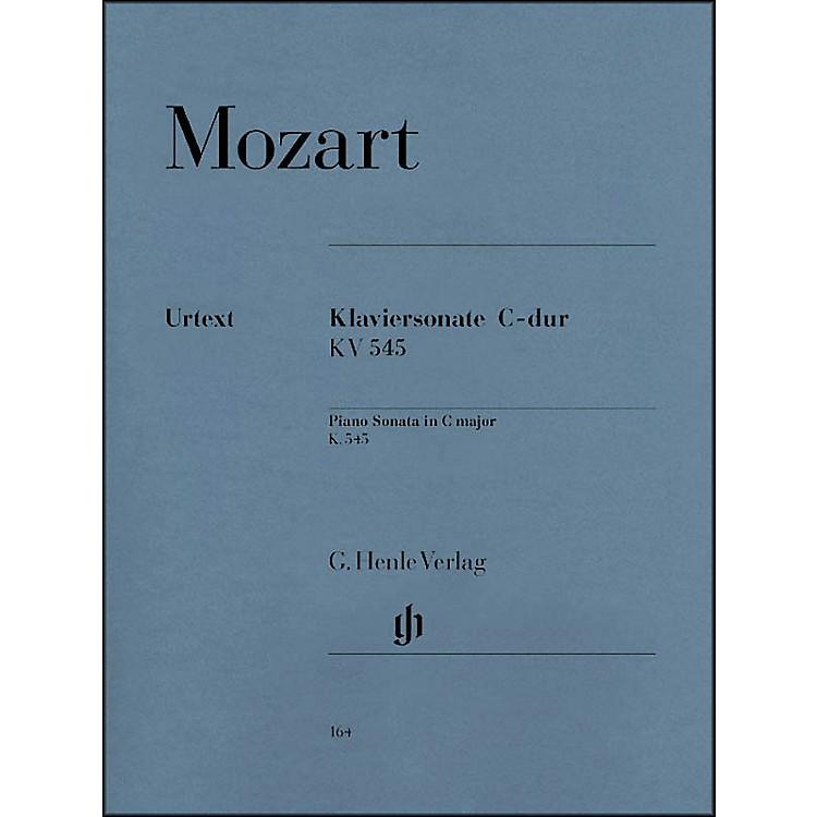 G. Henle VerlagPiano Sonata In C Major K545 (Facile) By Mozart