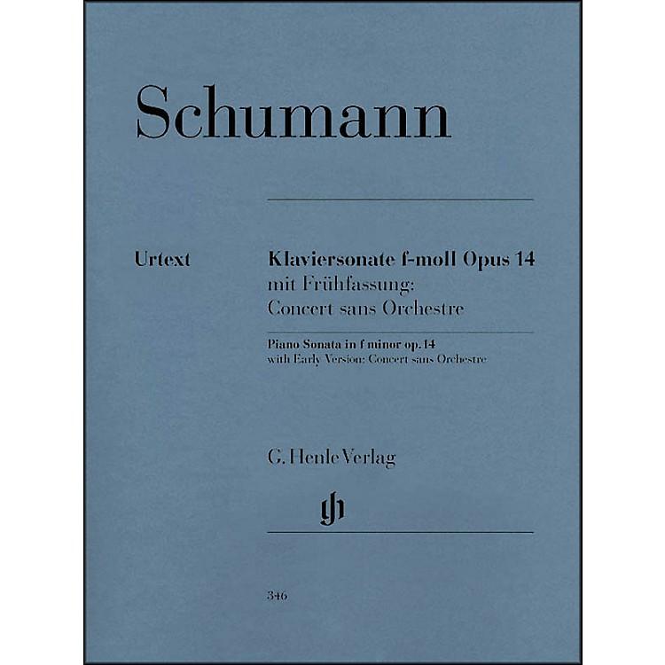 G. Henle VerlagPiano Sonata In F Minor Op. 14 By Schumann