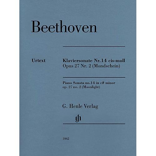 G. Henle Verlag Piano Sonata No 14 In C-sharp Min Op 27 No