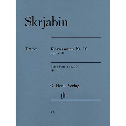 G. Henle Verlag Piano Sonata No. 10, Op. 70 Henle Music Folios Softcover by Scriabin Edited by Valentina Rubcova-thumbnail