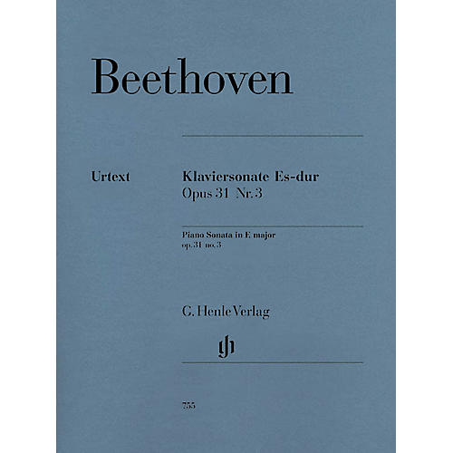 G. Henle Verlag Piano Sonata No. 18 in E Flat Major Op. 31 (La Chasse) Henle Music Folios Series Softcover-thumbnail