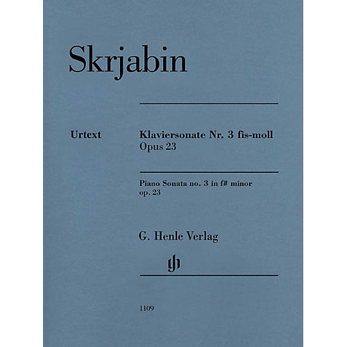 G. Henle Verlag Piano Sonata No. 3 in F-sharp minor, Op. 23 Henle Music Softcover by Scriabin Edited by Valentina Rubcova-thumbnail