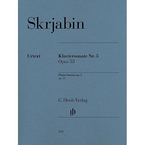 G. Henle Verlag Piano Sonata No. 5, Op. 53 Henle Music Softcover by Scriabin Edited by Valentina Rubcova
