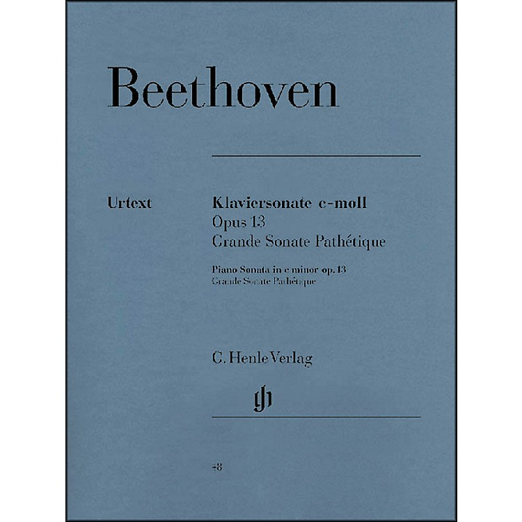 G. Henle Verlag Piano Sonata No. 8 in C minor Op. 13 [Grande Sonata Pathétique] By Beethoven