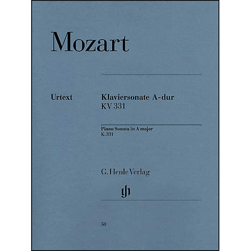 G. Henle Verlag Piano Sonata in A Major K331 (300i) (with Alla Turca) By Mozart