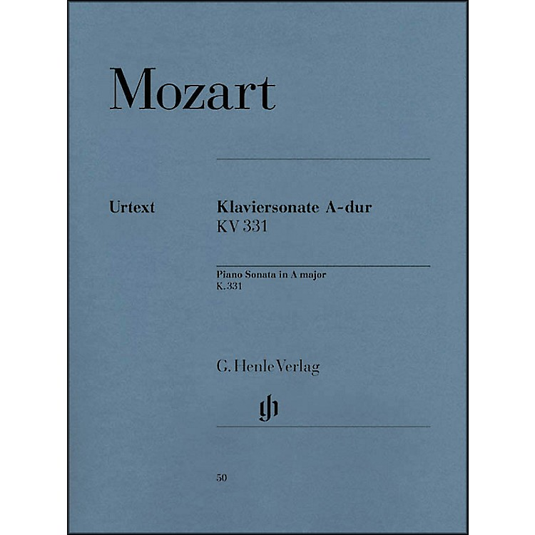 G. Henle Verlag Piano Sonata in A Major K331 (300i) (with Alla Turca) By Mozart