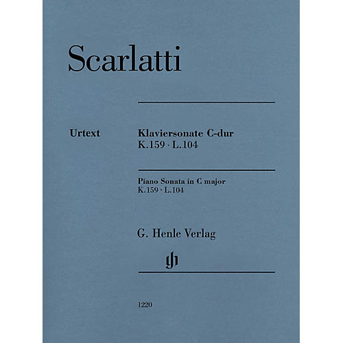 G. Henle Verlag Piano Sonata in C Major K. 159, L. 104 Henle Music Softcover by Scarlatti Edited by Bengt Johnsson