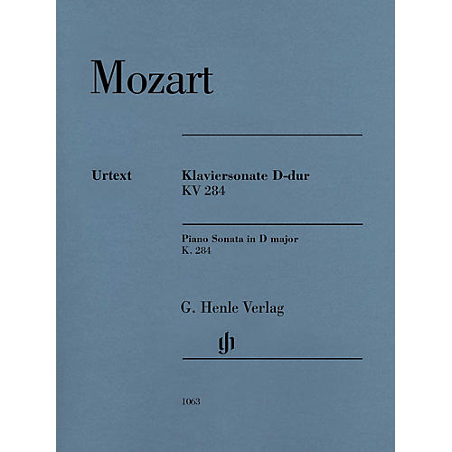 G. Henle Verlag Piano Sonata in D Major, K. 284 (205b) Henle Music Softcover by Mozart Edited by Ernst Herttrich