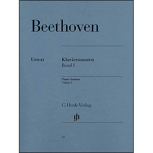 G. Henle Verlag Piano Sonatas Volume I By Beethoven / Wallner