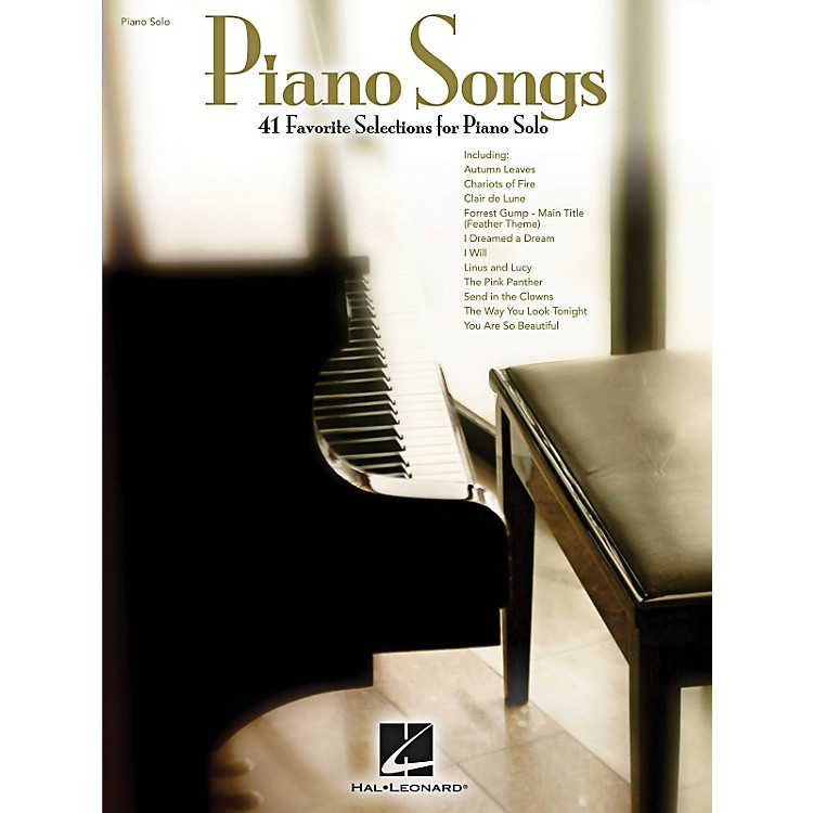 Hal Leonard Piano Songs - 41 beautiful solo arrangements that you'll love to play!