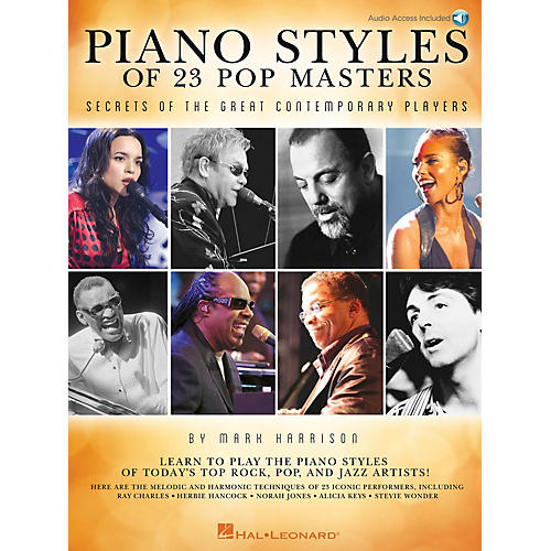Hal Leonard Piano Styles of 23 Pop Masters Keyboard Instruction Series Softcover with CD Written by Mark Harrison