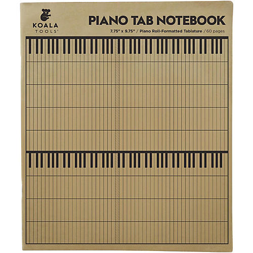 Koala Music Piano Tab Notebook-thumbnail