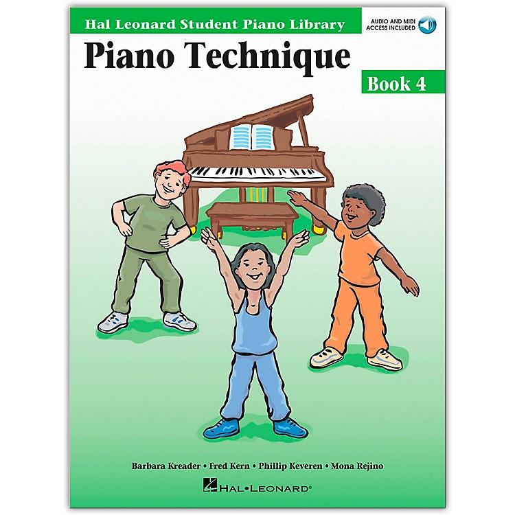 Hal LeonardPiano Technique Book 4 Book/CD Hal Leonard Student Piano Library