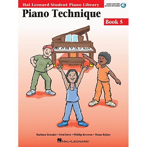 Hal Leonard Piano Technique Book 5 - Book/Enhanced CD Pack Educational Piano Library Book with CD by Various Authors-thumbnail