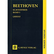 G. Henle Verlag Piano Trios - Volume I (Study Score) Henle Study Scores Series Softcover Composed by Ludwig van Beethoven