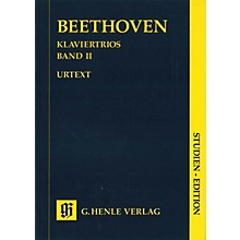 G. Henle Verlag Piano Trios - Volume II (Study Score) Henle Study Scores Series Softcover by Ludwig van Beethoven
